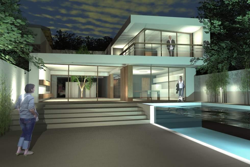 Construction maison de ville avec piscine sur Bordeaux HA 11 ...
